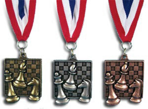 popular square chess medals
