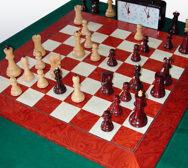Zagreb-59 Chess Set in play
